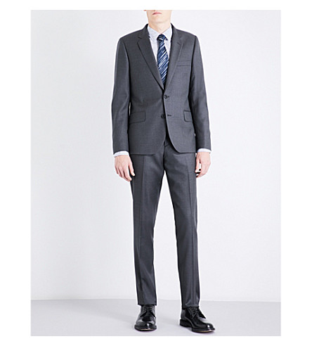 PAUL SMITH Nail head-patterned Soho-fit wool suit (Grey