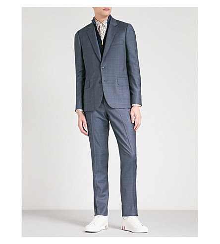 PAUL SMITH Checked Soho-fit wool suit (Grey