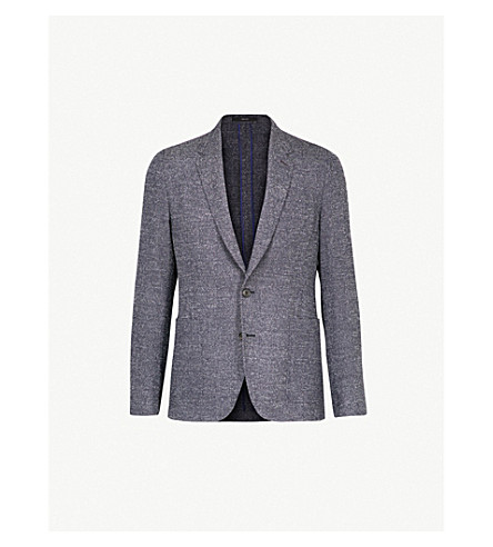 PAUL SMITH Hopsack-weave Soho-fit wool jacket (Navy