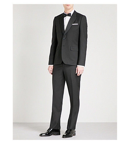 PAUL SMITH Soho-fit single-breasted wool and mohair-blend suit (Black