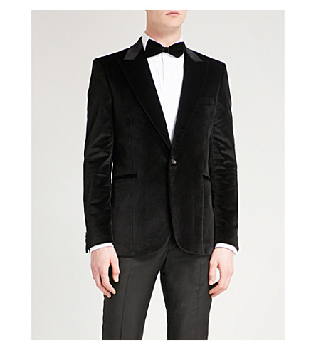 PAUL SMITH Soho-fit velvet jacket (Black