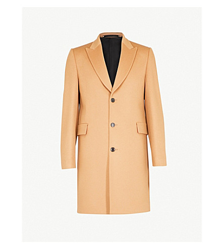 PAUL SMITH Epsom single-breasted wool and cashmere-blend coat (Camel