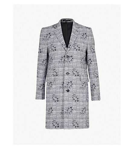 PAUL SMITH Paisley cotton-blend coat (Grey