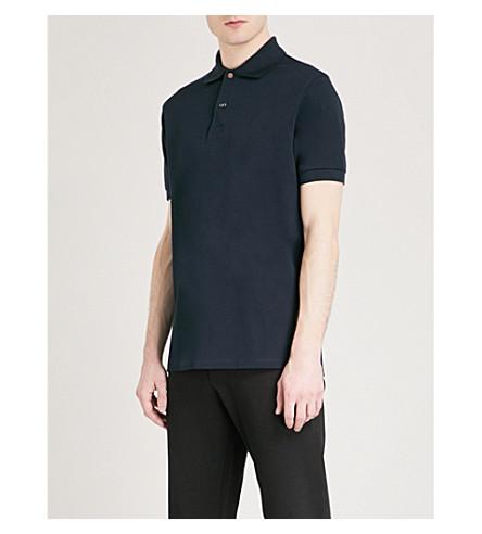 PAUL SMITH Charm button cotton-piqué polo shirt (Navy