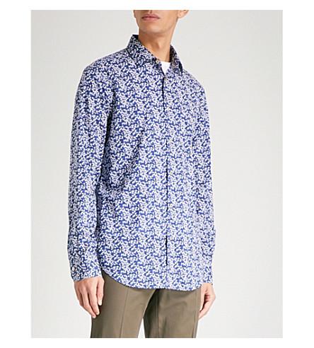PAUL SMITH Paisley-print Soho-fit cotton shirt (Blue