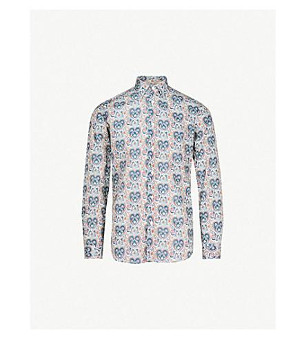 PAUL SMITH Paisley-print Soho-fit cotton shirt (Teal