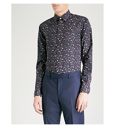 PAUL SMITH Air Balloon-print Soho-fit cotton shirt (Navy