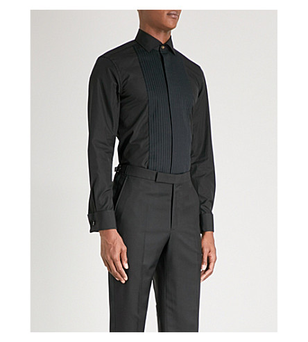 PAUL SMITH Marcella Soho-fit cotton-poplin shirt (Black