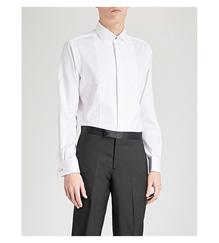 PAUL SMITH Bib-panel Soho-fit cotton Oxford shirt (White
