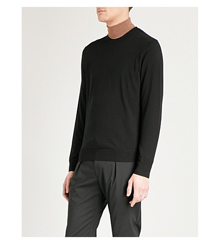 PAUL SMITH Crewneck merino wool jumper (Black