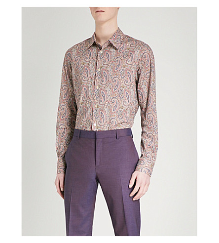 PAUL SMITH Paisley-print cotton shirt (Multi-coloured