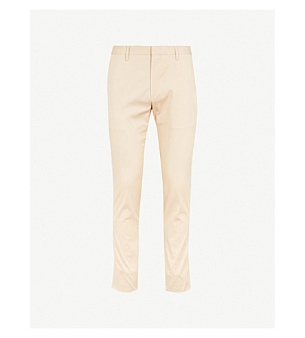 PAUL SMITH Slim-fit tapered cotton-blend chino trousers (Beige