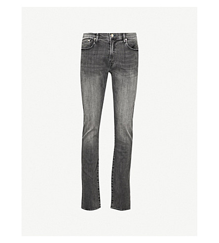 PAUL SMITH Slim-fit tapered jeans (Grey