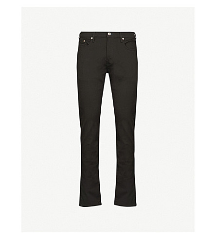 PAUL SMITH Lightweight slim-fit tapered jeans (Black