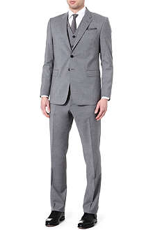 PAUL SMITH LONDON Byard slim-fit three piece single-breasted suit