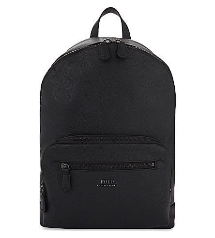 POLO RALPH LAUREN Leather backpack (Black