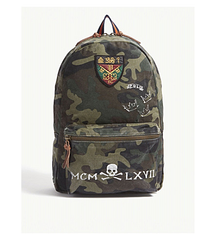 POLO RALPH LAUREN Printed camouflage canvas backpack (Camo eeb713a5f4e1d