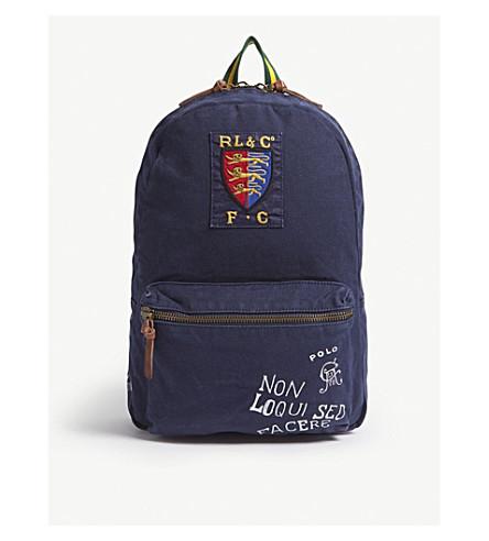 48692e341aea ... POLO RALPH LAUREN Printed canvas backpack (Navy. PreviousNext