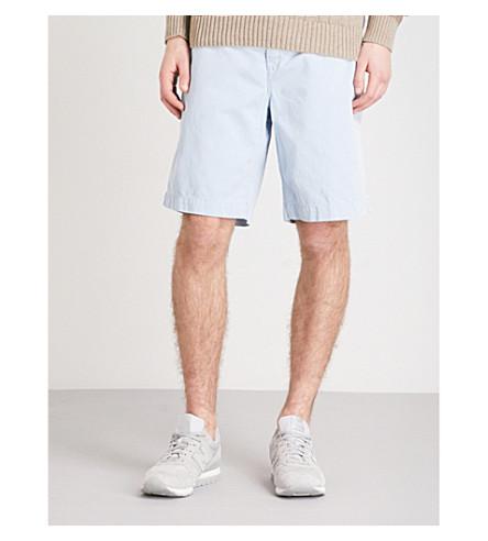 POLO RALPH LAUREN Slim-fit cotton chino shorts (Hampton+blue