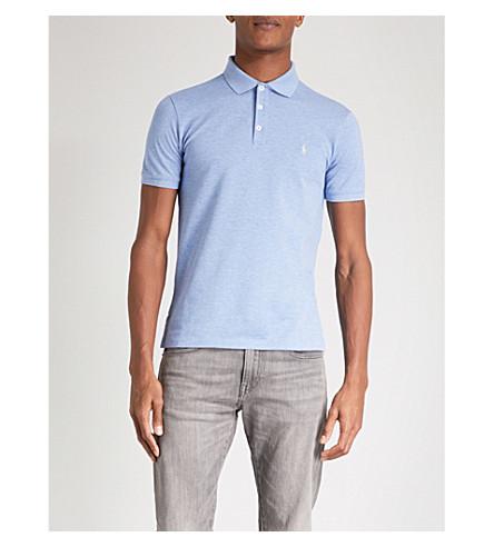 POLO RALPH LAUREN Slim-fit cotton-pique polo shirt (Jamaica+heather