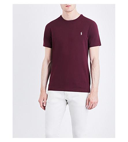 POLO RALPH LAUREN Pony motif cotton-jersey T-shirt (Classic+burgund
