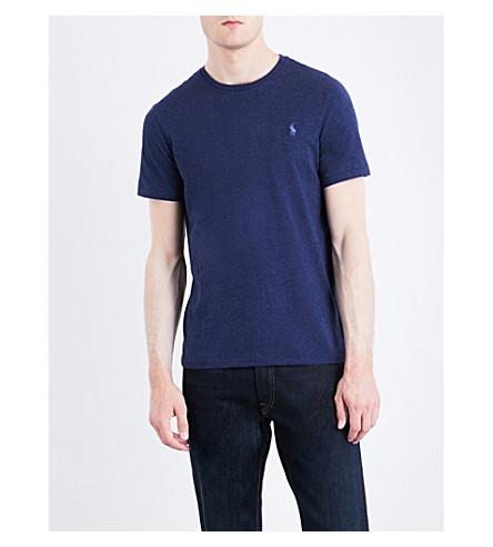 POLO RALPH LAUREN Pony motif cotton-jersey T-shirt (Spring+navy+hea