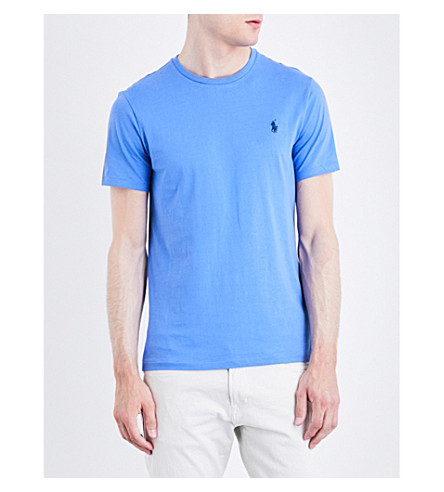 POLO RALPH LAUREN Pony motif cotton-jersey T-shirt (Scottsdale+blue