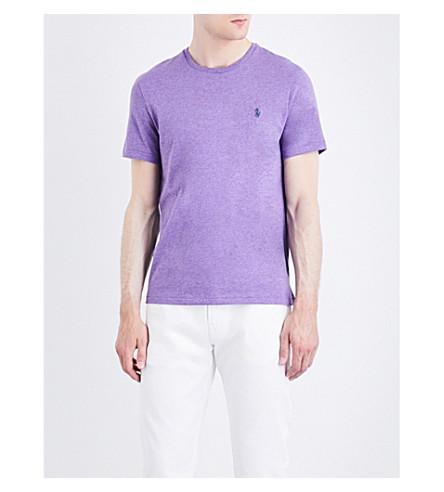 POLO RALPH LAUREN Pony motif cotton-jersey T-shirt (Safari+purple+h