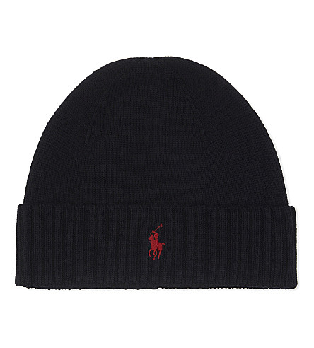 POLO RALPH LAUREN Logo wool beanie (Hunter+navy