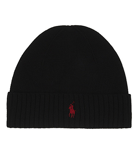 POLO RALPH LAUREN Logo wool beanie (Polo+black