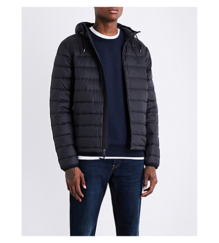 POLO RALPH LAUREN Hooded shell-down puffer jacket (Polo+black