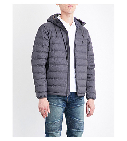 POLO RALPH LAUREN Hooded shell-down puffer jacket (Windsor+heather