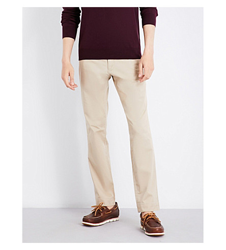 POLO RALPH LAUREN Stretch slim-fit tapered chinos (Classic+khaki
