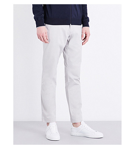 POLO RALPH LAUREN Stretch slim-fit tapered chinos (Silver+smoke