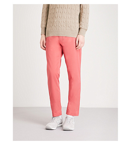 POLO RALPH LAUREN Slim-fit cotton-blend chinos (Nantucket+red