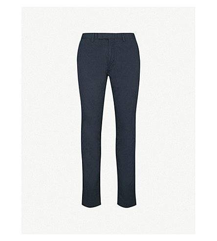 POLO RALPH LAUREN Slim-fit stretch-cotton chinos (Aviator+navy