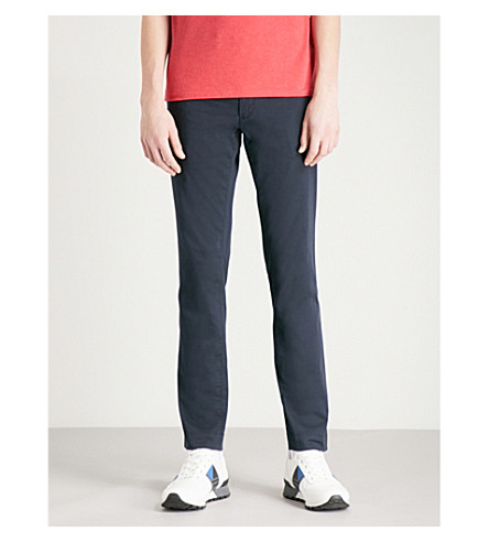POLO RALPH LAUREN Slim-fit stretch-cotton chinos (Aviator+navy