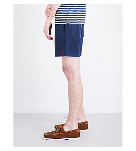 POLO RALPH LAUREN Classic-fit stretch-cotton shorts (Coastal+navy