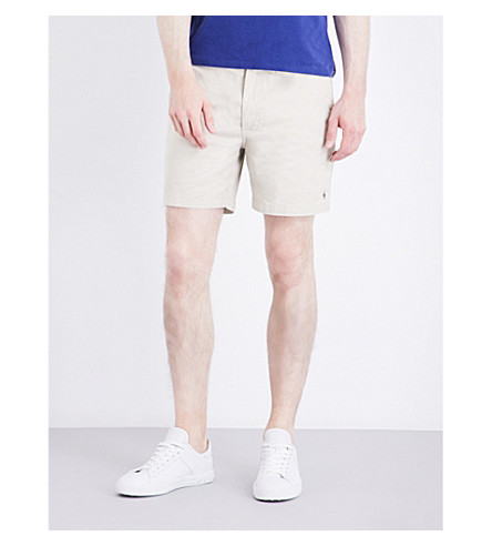 POLO RALPH LAUREN Classic-fit mid-rise stretch-cotton shorts (Classic+stone
