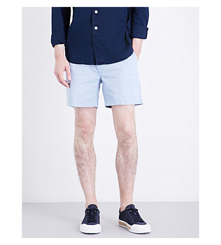 POLO RALPH LAUREN Classic-fit stretch-cotton shorts (Fountain+blue