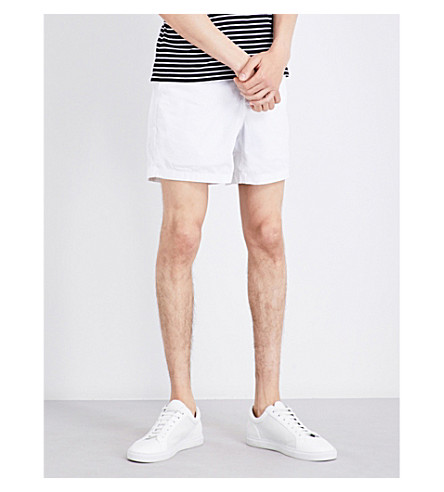POLO RALPH LAUREN Classic-fit stretch-cotton shorts (White