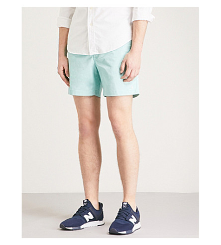 POLO RALPH LAUREN Relaxed-fit cotton shorts (Bayside+green
