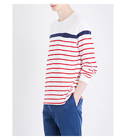 POLO RALPH LAUREN Striped cotton-jersey sweatshirt (Classic+oxford