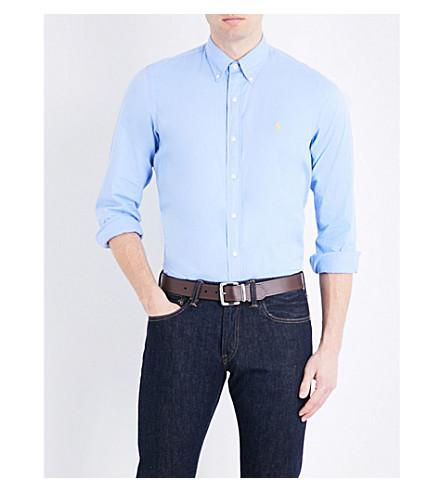 POLO RALPH LAUREN Logo-embroidered slim-fit cotton shirt (Spinnakker+blue