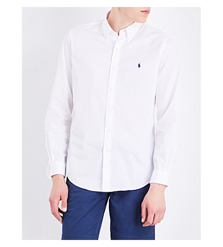POLO RALPH LAUREN Slim-fit cotton shirt (White