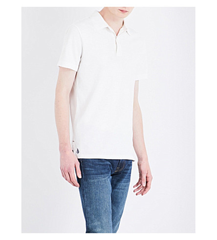POLO RALPH LAUREN Slim-fit cotton-piqué polo shirt (Deckwash+white
