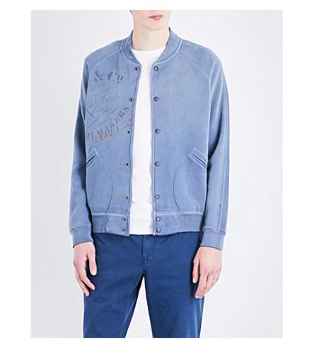 POLO RALPH LAUREN Regular-fit faded cotton-blend jacket (Stewart+blue