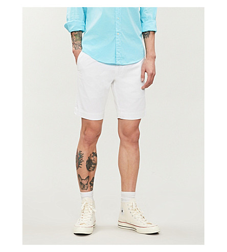 POLO RALPH LAUREN Slim-fit stretch-cotton shorts (White