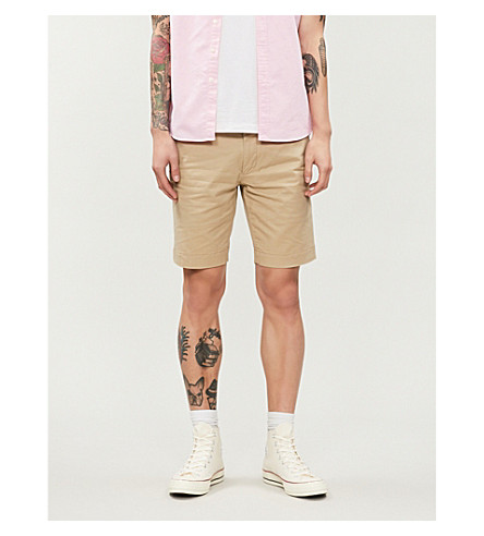 POLO RALPH LAUREN Slim-fit stretch-cotton shorts (Classic+khaki
