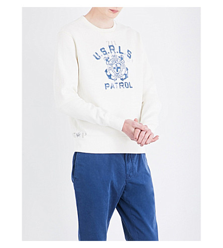 POLO RALPH LAUREN Logo-print cotton-blend sweatshirt (Nevis